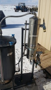 condenser to turn steam into essential oil and hydrosol