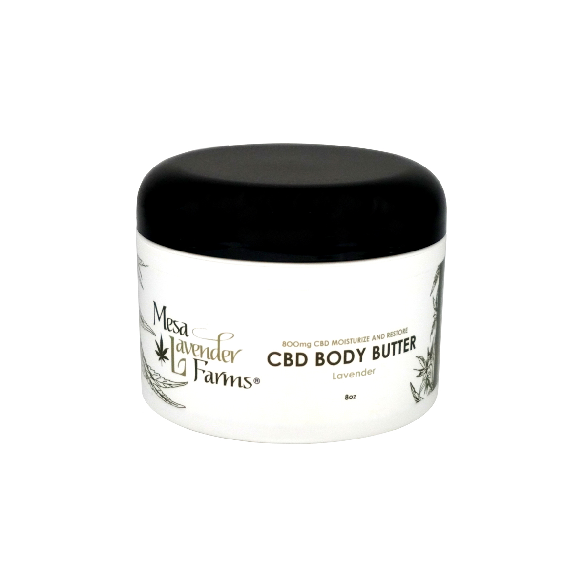 8oz CBD Body Butter Lavender